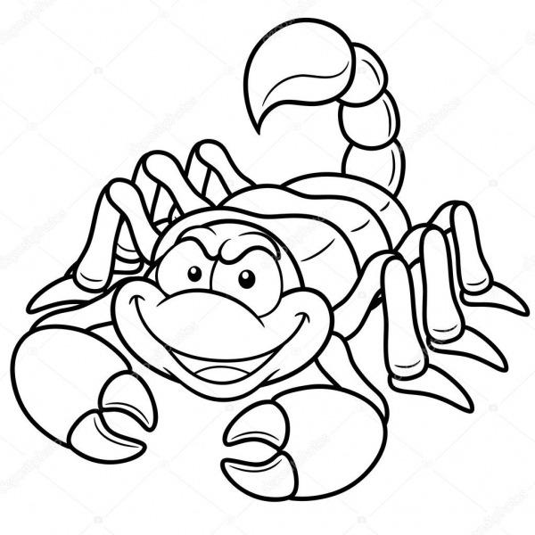 Escorpião Dos Desenhos Animados — Vetor De Stock © Sararoom  29276649