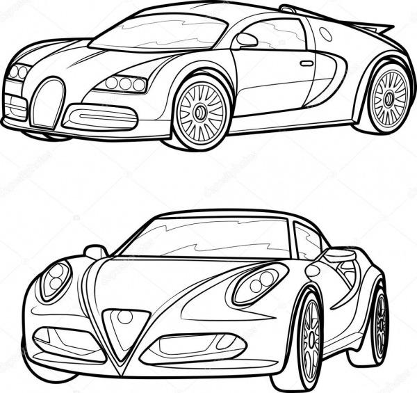 Conjunto Desenho De Carros — Vetor De Stock © Kopirin  33244859