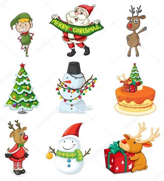 Desenhos De Natal — Vetores De Stock © Interactimages  38190585