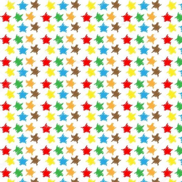 Padrão De Estrelas Coloridas — Vetor De Stock © Kolubo  38521519