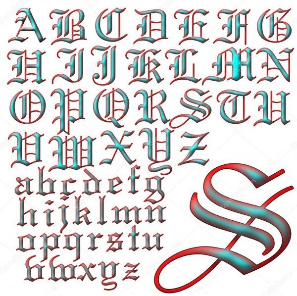 Desenho De Letras De Alfabeto Abc — Stock Photo © Jrtburr  51296223