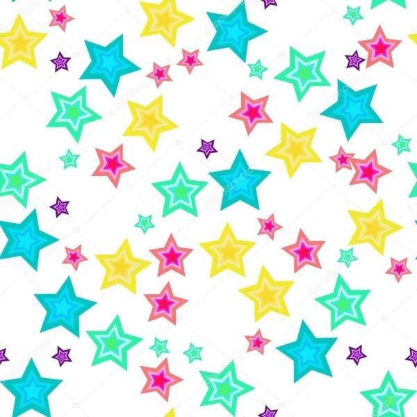 Estrelas Coloridas  Fundo Branco — Vetor De Stock © Sashanazim