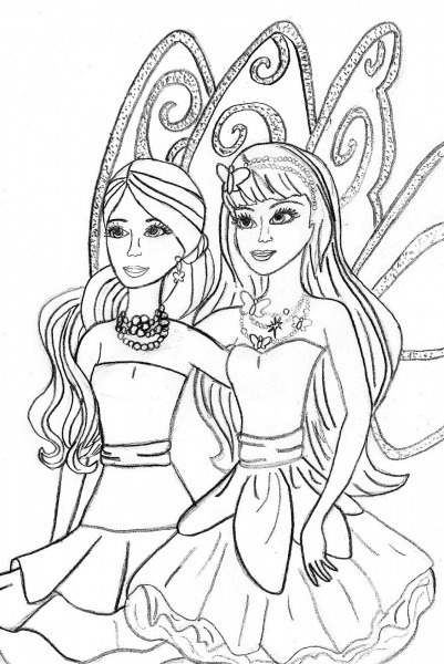 Desenhos Para Pintar Da Barbie Em Vida De Sereia 2