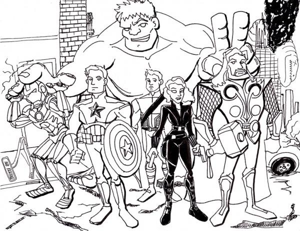Desenho De Avengers Para Colorir – Pampekids Net