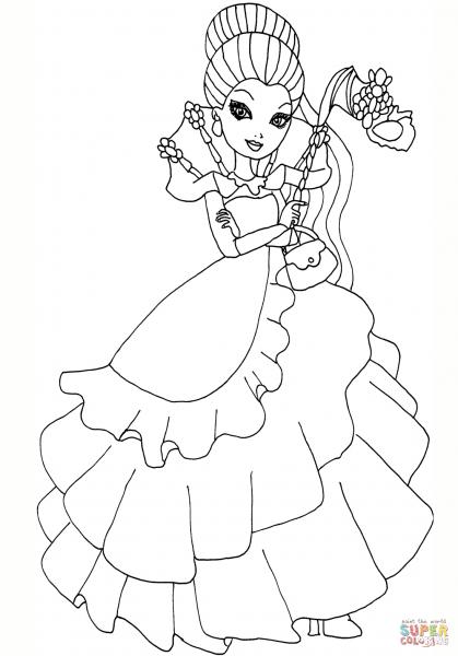 Desenho De Ever After High Thronecoming Raven Queen Para Colorir
