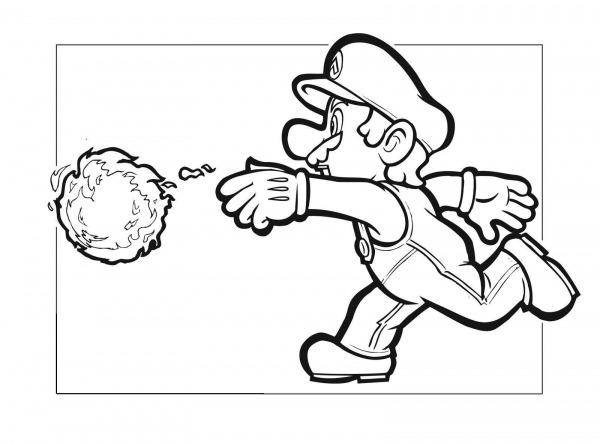 Desenho Do Super Mario Para Colorir – Pampekids Net