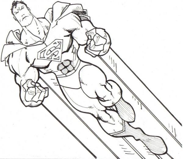Desenho Para Colorir Super Homem – Pampekids Net