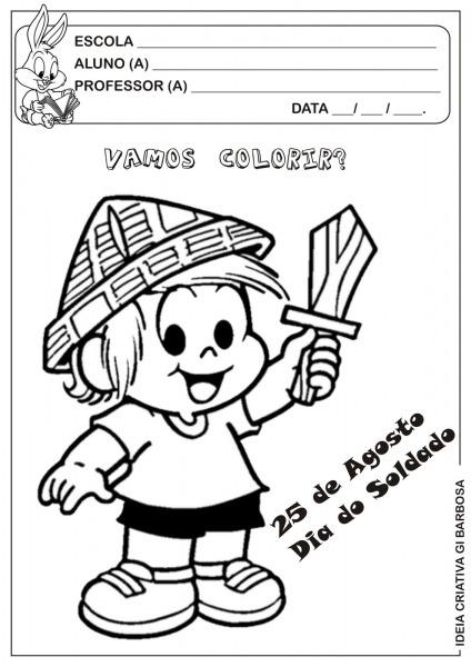 Desenho Pra Colorir Dia Do Soldado – Pampekids Net