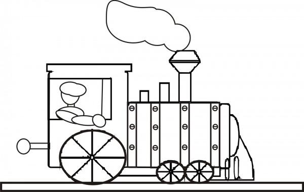 Desenhos Para Colorir  Desenho Para Colorir De Trem Veja Mais
