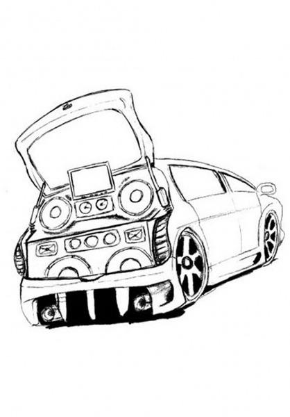 Desenhos De Carros Para Colorir Tunado – Pampekids Net