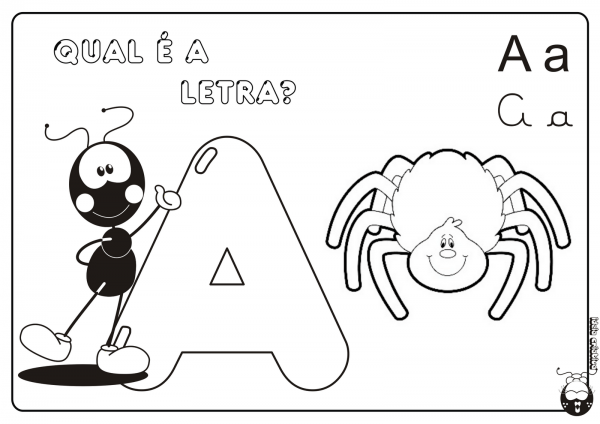 Letra A Para Colorir – Pampekids Net