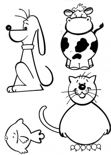 Desenhos Para Colorir E Imprimir De Animais – Pampekids Net