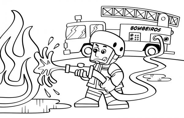 Desenhos De Bombeiro Para Colorir E Imprimir
