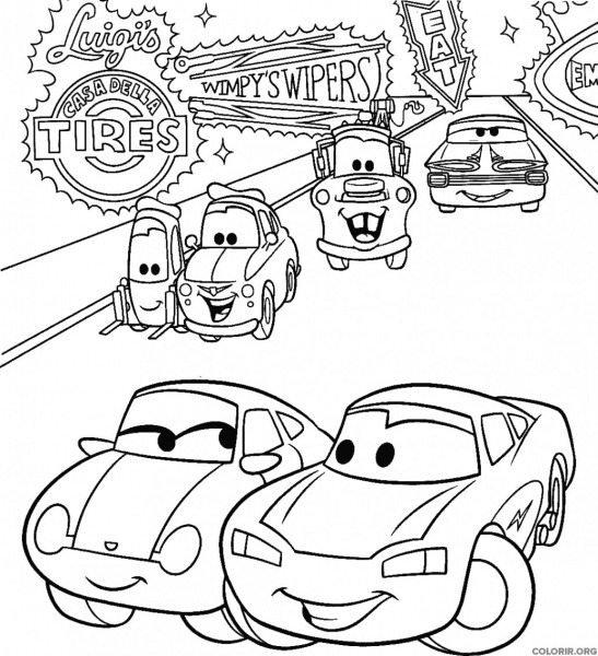 Desenhos De Carros Para Colorir Grandes Deslumbrante Personagens