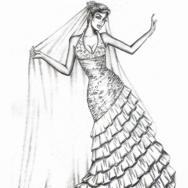 Desenhos Para Colorir De Vestidos – Pampekids Net