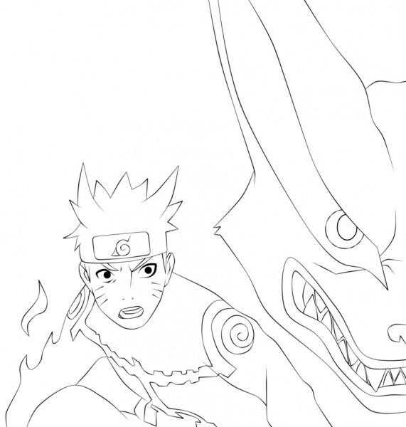 Desenhos Para Colorir Naruto Raposa De 9 Caudas – Pampekids Net
