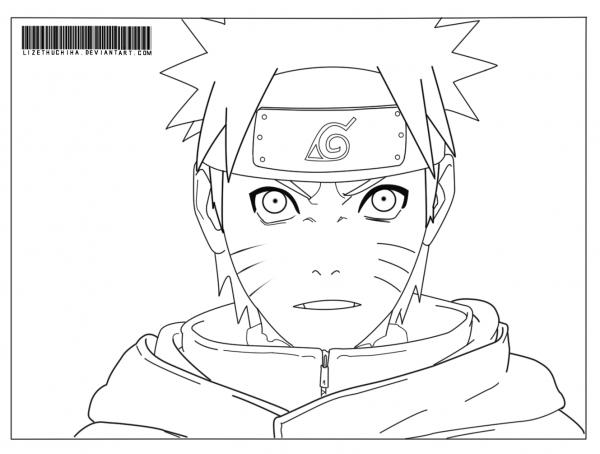 Desenho Do Naruto Shippuden Para Colorir