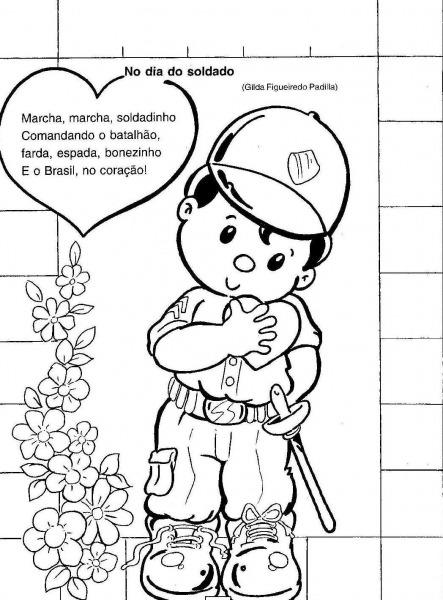 Dia Do Soldado Desenhos Colorir – Pampekids Net