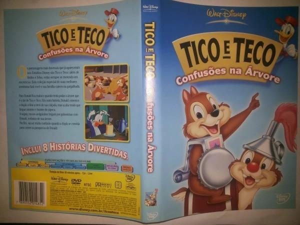 Dvd Infantil Desenho Animado Tico E Teco Confusões Na Árvore