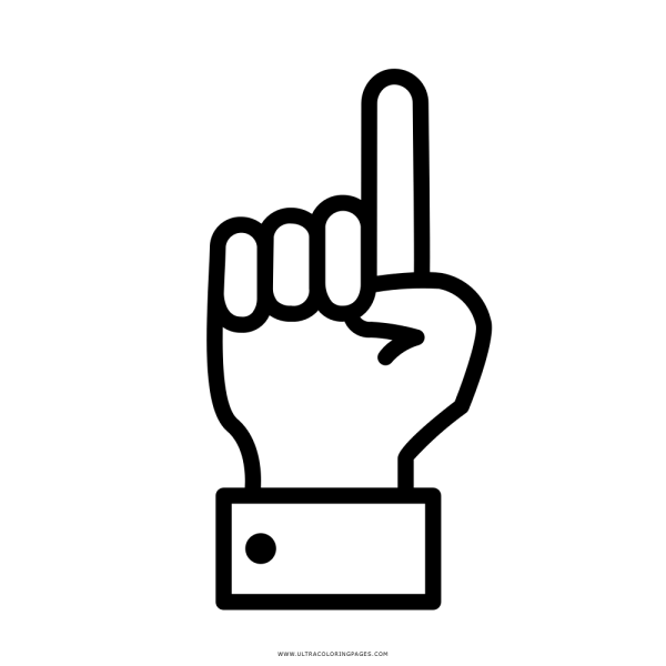 Dedo Indicador Desenho Para Colorir