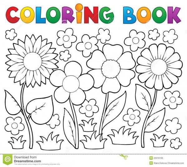 Flores Para Colorir – Pampekids Net
