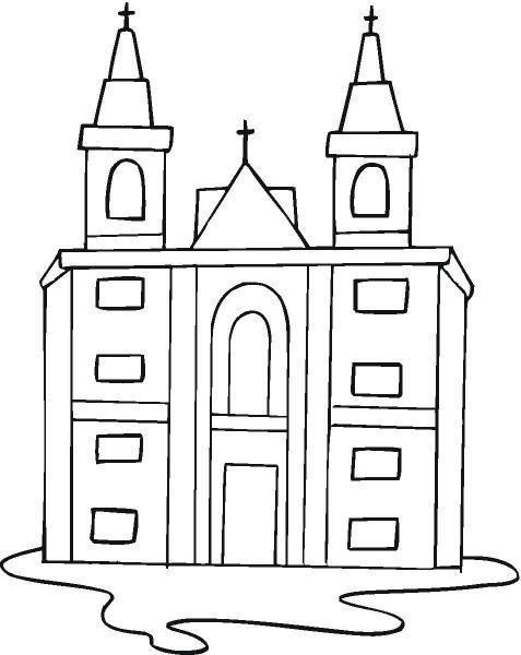 Desenhos De Igrejas Para Colorir