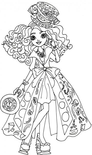 Desenho De Madeline Hatter De Ever After High Para Colorir