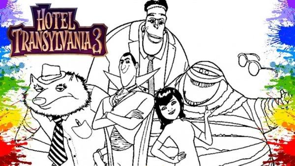 Desenhos Para Colorir Hotel Transilvânia 3 Video De Crianças