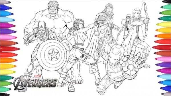 Colorindo Os Vingadores ( Avengers )homem De Ferro Capitão America