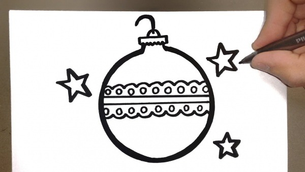 How To Draw Christmas Ornament