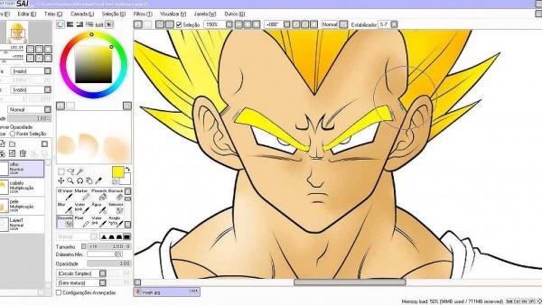 Como Pintar Um Desenho No Paint Tool Sai (com O Mouse)