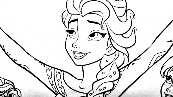 Colorir Elsa E Ana Frozen 2
