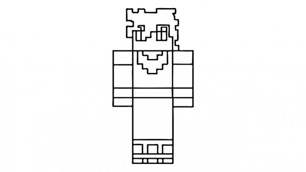 Como Desenhar O Goku De Minecraft (skin, Dragon Ball Z)