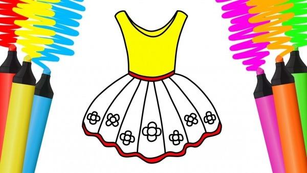 Como Desenhar E Pintar Vestido