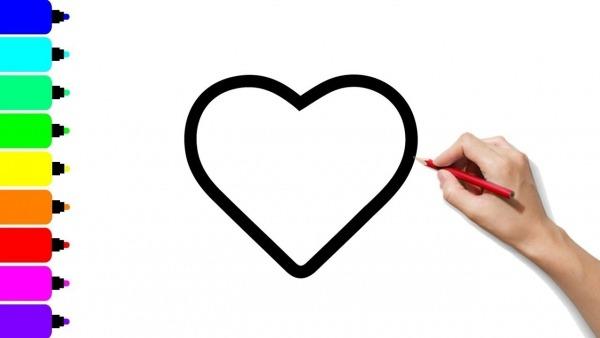 Como Desenhar E Colorir Um Coração Amoroso