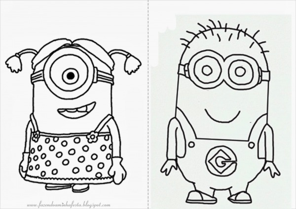 Imagens Do Minions Para Colorir – Pampekids Net
