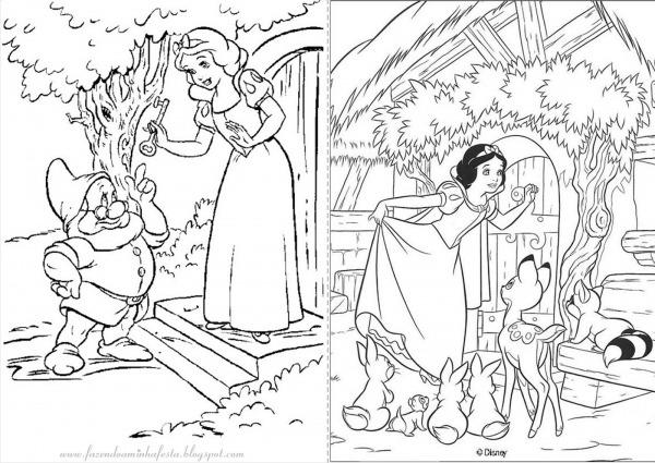 Imagens Para Colorir Da Branca De Neve