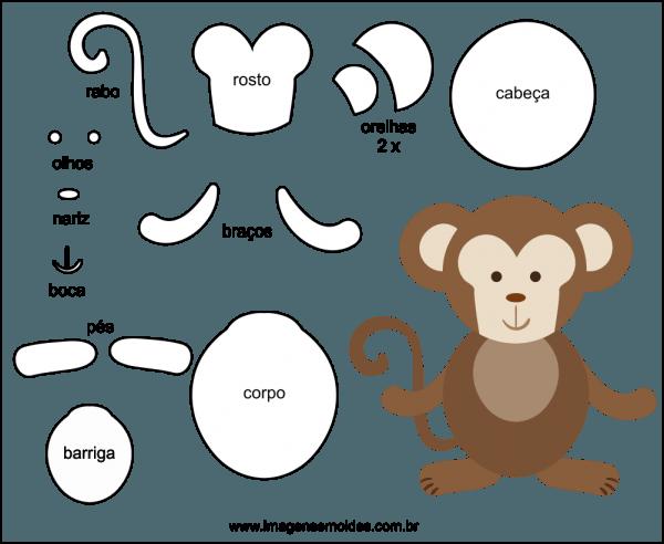 Molde De Macaco Para Feltro