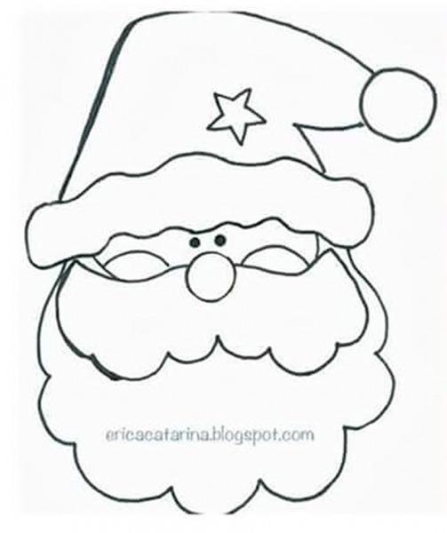 10 Moldes Para Fazer Papai Noel De Feltro