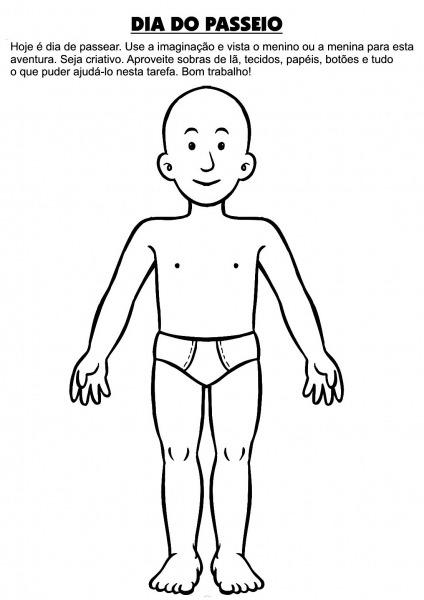 Corpo Humano Colorir – Pampekids Net
