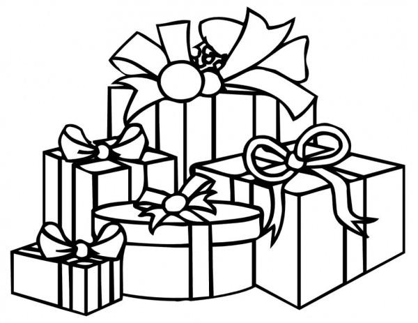 Presentes De Natal Para Colorir
