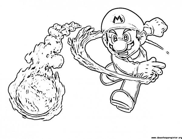 Super Mario Bros, Desenhos Para Imprimir Colorir E Pintar Do Mario