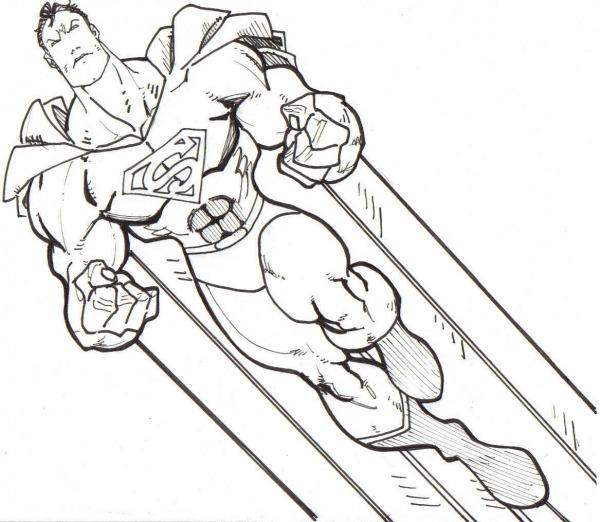 Desenho Para Colorir Super Homem