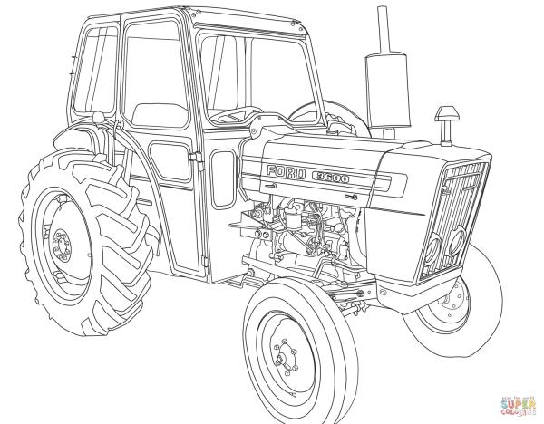 Desenho De Trator Ford 3600 Para Colorir