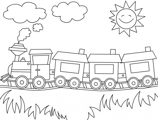 Trem Para Colorir – Pampekids Net