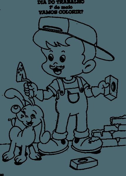 Dia Do Trabalho Para Colorir – Pampekids Net