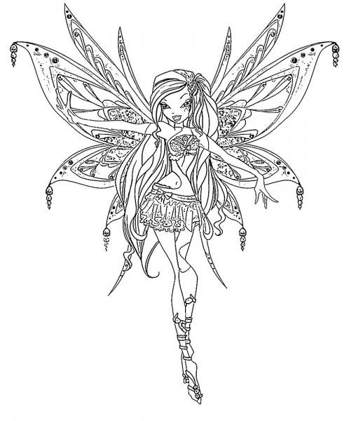 Desenhos De Winx Para Colorir Para Crianças Artísticas