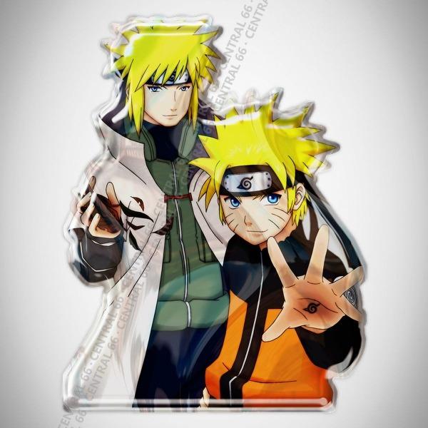 Adesivo Desenho Naruto Shippuden Naruto E Yamamoto Resinado