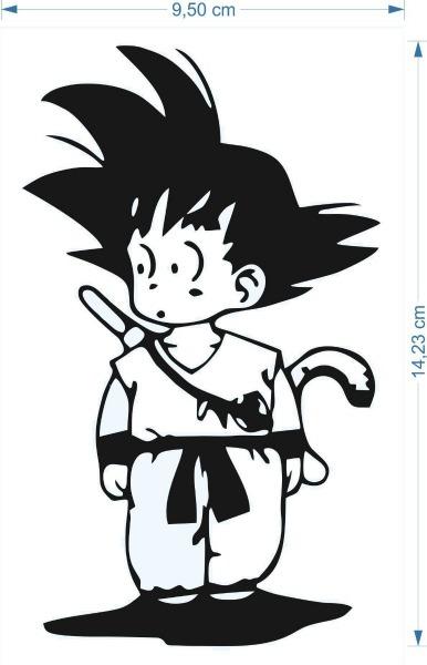 Adesivo Goku Criança Dragon Ball 10cmx15cm Geek Nerd Desenho