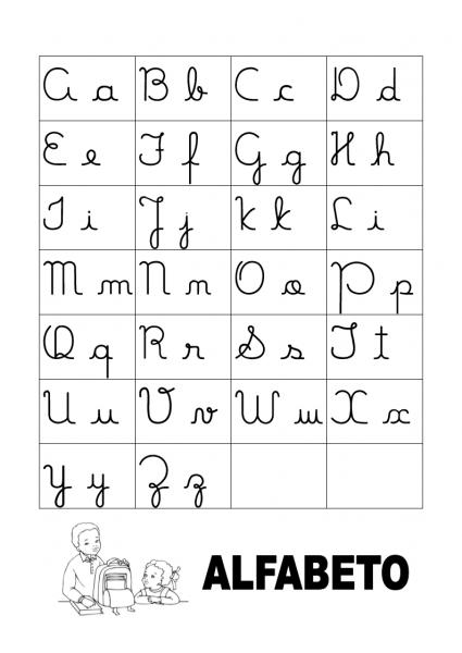 Alfabeto Completo Para Imprimir Tamanho Grande – Colorido E Preto